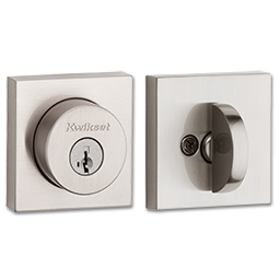 Picture of KWIKSET HALIFAX SQUARE SINGLE CYLINDER DEADBOLT WITH SMARTKEY - SATIN NICKEL