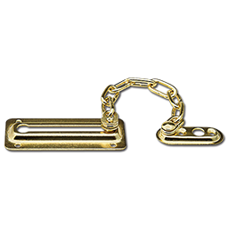 Picture of CHAIN DOOR GUARD - PB 2 PK