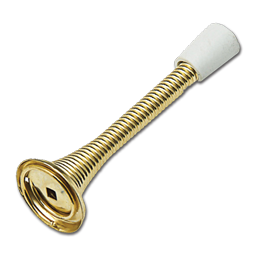 "Picture of 3-1/8"" HEAVY DUTY SPRING DOOR STOP - POLISHED BRASS"