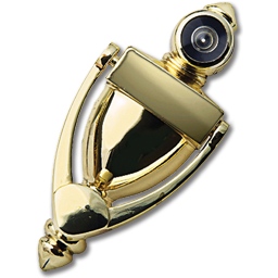 Charmant Picture Of DOOR KNOCKER WITH VIEWER 180°   POLISHED BRASS