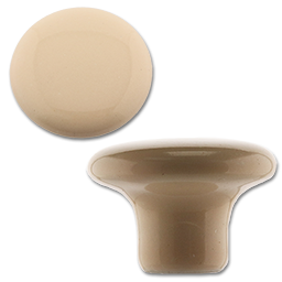 "Picture of 1-1/2"" ALMOND PORCELAIN KNOB - 5/PK"