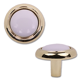 "Picture of 1-1/4"" PORCELAIN/POLISHED BRASS KNOB - 5/PK"
