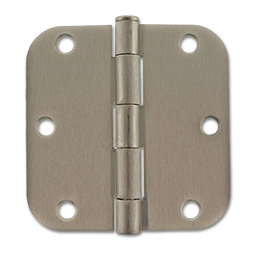 "Picture of 3-1/2"" SATIN NICKEL HINGE 5/8"" RADIUS - PAIR"
