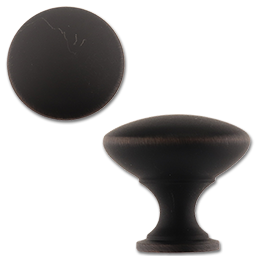 "Picture of 1-1/8"" OVAL CABINET KNOB - OIL RUBBED BRONZE"