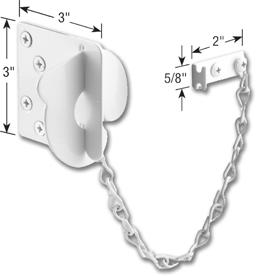 Picture of TEXAS SECURITY DOOR LOCK- WHITE