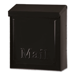 Picture of LOCKABLE VERTICAL WALL MOUNT MAILBOX - BLACK