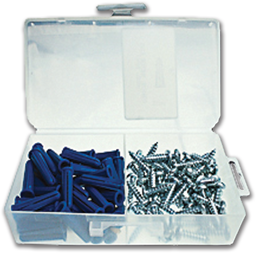 "Picture of 5/16"" PLASTIC ANCHOR & SCREW KIT W/#14 - 1-3/8"" PAN HEAD SCREWS- 50/BX"