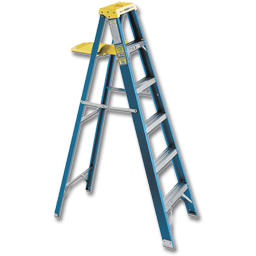 Picture of WERNER 6' FIBERGLASS STEP LADDER