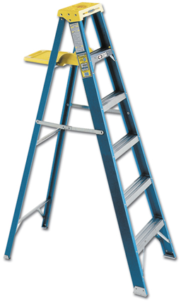Picture of WERNER 8' FIBERGLASS STEP LADDER