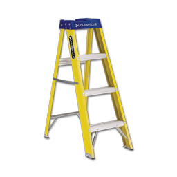 Picture of LOUISVILLE COMMERCIAL 4' FIBERGLASS LADDER