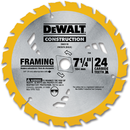 "Picture of 7-1/4"" DEWALT 24 TOOTH SAW BLADE"