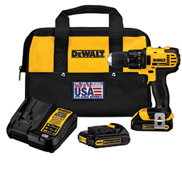 Picture of DEWALT 20V MAX LITHIUM ION COMPACT DRILL/DRIVER KIT