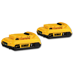 Picture of DEWALT 20V MAX COMPACT XR LITHIUM BATTERY 2/PACK