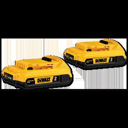 DEWALT 20V MAX COMPACT XR LITHIUM BATTERY 2/PK