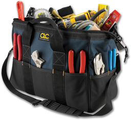 "Picture of 16"" CLC BIG MOUTH NYLON TOOL BAG #1165"