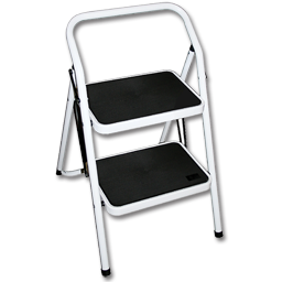 """Picture of 2-STEP ALUMINUM LADDER/STOOL - 28"""""""