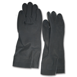 Picture of BLACK NEOPRENE FLOCK-LINED GLOVES - MEDIUM