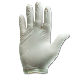 Picture of DISPOSABLE LATEX GLOVES SMALL - 100/BX