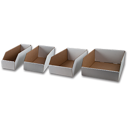 "Picture of CARDBOARD BIN BOX- 12"" L X 4"" W X 4-1/2"" H"
