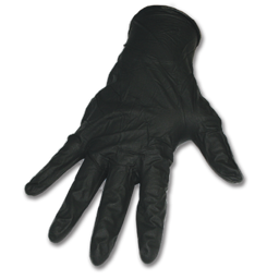 Picture of DISPOSABLE NITRILE GLOVES- X-LARGE 6 MIL BLACK