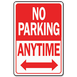 Picture of NO PARKING ANYTIME HWY SIGN - ALUMINUM