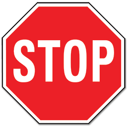 "Picture of STOP SIGN - ALUMINUM 18"" x 18"""