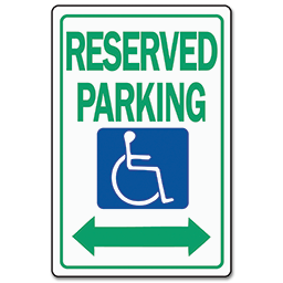Picture of HANDICAP RESERVE PARKING SIGN - ALUMINUM