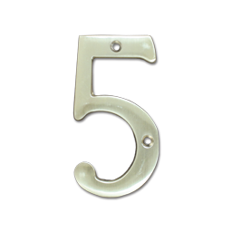 "Picture of HOUSE NUMBER 4"" BRASS - # 5"