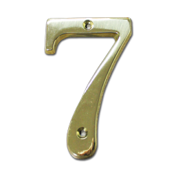 "Picture of HOUSE NUMBER 4"" BRASS - # 7"