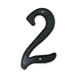 "Picture of HOUSE NUMBER 4"" PLASTIC BLACK - # 2"