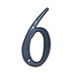 "Picture of HOUSE NUMBER 4"" PLASTIC BLACK- # 6"
