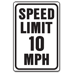 Picture of 10 MPH STREET SIGN - ALUMINUM