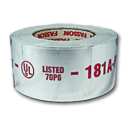 "Picture of FASSON 0810 FOIL TAPE - 2-1/2"" X 60 YDS. 2-MIL UL-181 RATED"