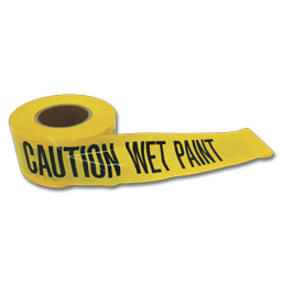 "Picture of WET PAINT TAPE - 3"" X 1000'"