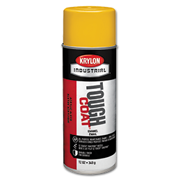 Picture of KRYLON TOUGH COAT OSHA GLOSS BLACK SPRAY PAINT - 12 OZ NET