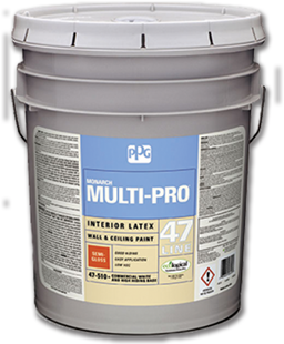 Picture of PPG INTERIOR LATEX SEMI-GLOSS WHITE PAINT- 5 GAL 47-510/05