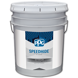 Picture Of PPG SPEEDHIDE EXTERIOR SATIN PASTEL PAINT  5 GALLON