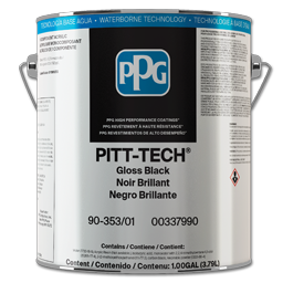 Picture of PITT-TECH INTERIOR/EXTERIOR ENAMEL GLOSS BLACK- 1 GALLON