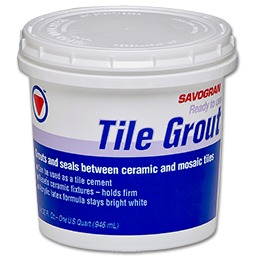 Picture of PRE-MIXED WHITE TILE GROUT - QUART
