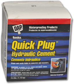Picture of DAP QUICK PLUG HYDRAULIC CEMENT - 2-1/2 LBS.