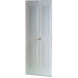 "Picture of 28"" LOUVER II METAL BIFOLD DOOR - IVORY"