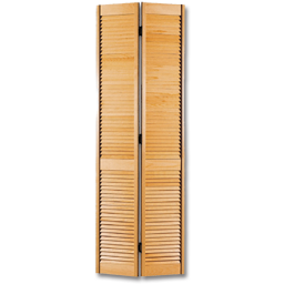 "Picture of 30"" PINE WOOD LOUVER BIFOLD DOOR - PAINT GRADE (ALTERNATE # 463071)"