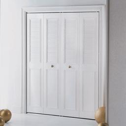 """Picture of 24"""" CLASSIC METAL BIFOLD DOOR - IVORY"""