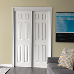 Picture of 6 PANEL BYPASS DOOR WHITE- 48""