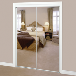 Picture of MIRROR BYPASS DOOR WHITE- 72""