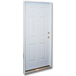"Picture of 36"" X 6' 8"" PREHUNG 6 PANEL STEEL DOOR LHIS"