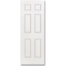 "Picture of 36"" X 6' 8"" STEEL DOOR - 6 PANEL WOOD EDGE"