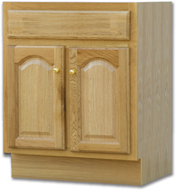 "Picture of 30""W X 18""D OAK VANITY BASE - TWO DOOR"