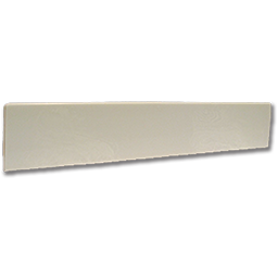 "Picture of 19"" CULTURED MARBLE TOP SIDE SPLASH - WHITE"