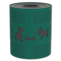 Picture of DSO- DOGIPARK DOG THEMED TRASH RECEPTACLE